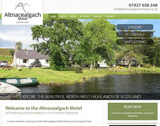 Altnacealgach Motel Website