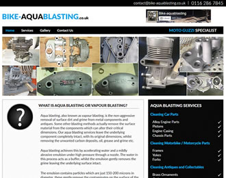Bike Aqua Blasting Website