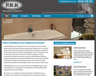 PRK Building Services Website